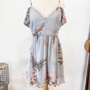 Lulu's cold shoulder floral dress